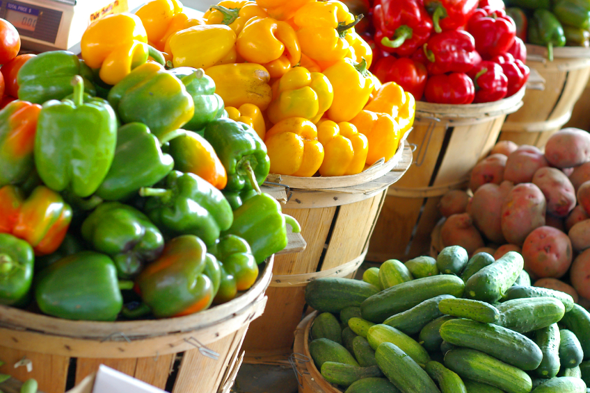 peppers and produce